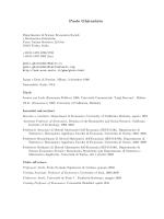 Paolo Ghirardato - Università degli Studi di Torino