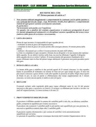 CIRCOLO ANSPI – C.O.P. AGUGLIANO Associazione Sportiva