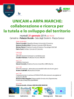 UNICAM e ARPA MARCHE - Università degli Studi di Camerino