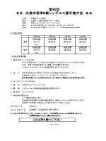 第90回 広島市春季B級シングルス選手権大会