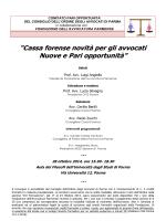 Locandina - Ordine degli Avvocati di Parma