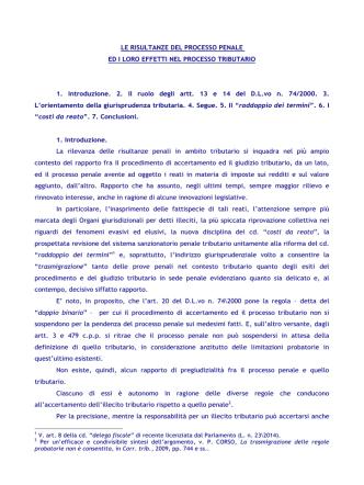 """CRISI E PROSPETTIVE DEL PRINCIPIO DEL """"DOPPIO BINARIO"""