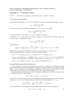 Lezione 8. 8 Ottobre 2014 2 ore - Università degli Studi di Trento