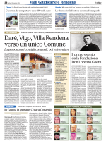 Daré, Vigo, Villa Rendena verso un unico Comune