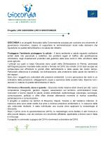 Progetto LIFE GIOCONDA LIFE13 ENV/IT/000225 GIOCONDA è un