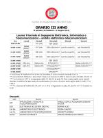 ORARIO III ANNO - Lauree e Lauree Magistrali