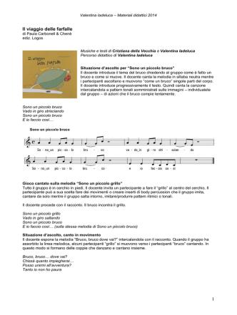 1 Il viaggio delle farfalle - CDM Centro Didattico Musicale