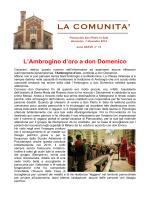 INFORMATORE 2014 n 14 - Parrocchia di san Pietro in Sala
