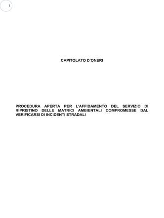 Capitolato - Comune di Francavilla Fontana