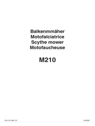 Balkenmmäher Motofalciatrice Scythe mower