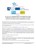 Seminario introduttivo di base, Roma, 19 maggio 2014