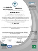EMS-3021/S IREN EMILIA S.P.A. CERTIFICATE No. CERTIFICATO N.
