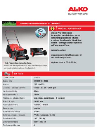 121676 _ Green Power 40B ESV _ P140