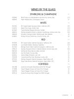 Wine List - Air Canada Centre