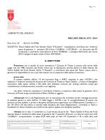 GABINETTO DEL SINDACO REG. DET. DIR. N. 3372 / 2014 Prot