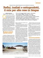Reflui, insilati e sottoprodotti, il mix per alte rese in biogas