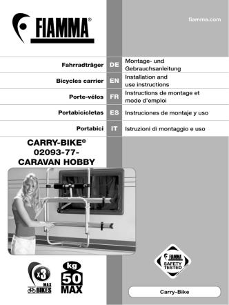 CARRY-BIKE® 02093-77- CARAVAN HOBBY
