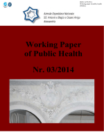 Working Paper of Public Health Nr. 03/2014