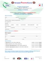 Scheda iscrizione ETC Torino, 5-7 Dicembre 2014