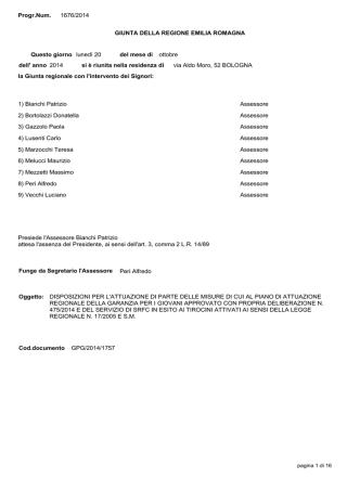 Delibera di GR n. 1676 del 20/10/2014
