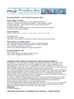 Primazona NEWS n. 76 di lunedì 29 settembre 2014 Vela e regate