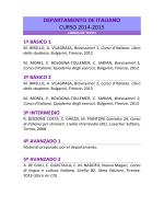 DEPARTAMENTO DE ITALIANO CURSO 2014-2015