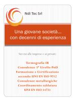 Presentazione NDI TEC 2014