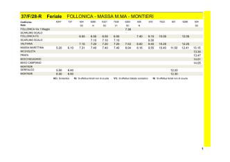 37/F/28-R Feriale FOLLONICA - MASSA M.MA - MONTIERI