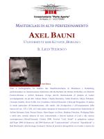 Masterclass di alto perfezionamento: Axel Bauni
