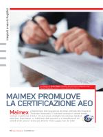 MAIMEX PROMUOVE LA CERTIFICAZIONE AEO