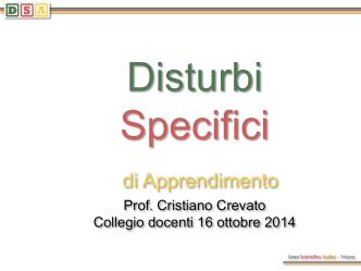 Crevato DSA e BES - Liceo Scientifico Galileo Galilei
