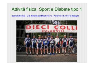 Attività fisica, Sport e Diabete tipo 1