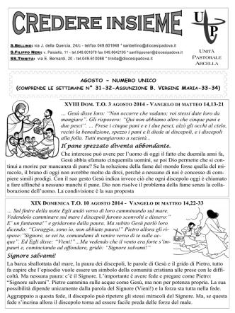 03 agosto 2014 - Parrocchia San Bellino