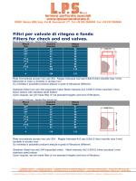 Filtri per valvole di ritegno e fondo Filters for check and end valves.