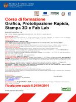 Corso di formazione Grafica, Prototipazione Rapida, Stampa 3D e