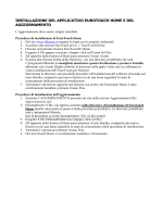 installazione del applicativo eurotouch home e del aggiornamento