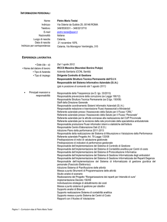 "07_ Mod. curriculum europeo - IRCCS, Centro Neurolesi ""Bonino"