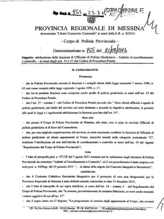 D.D. 865 N 755 - Provincia Regionale di Messina