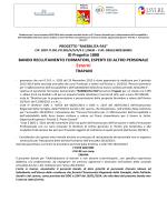 bando reclutemento - I.SVI.RE. Istituto per lo Sviluppo Regionale