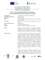 Consulta Scheda - Progetto PARI