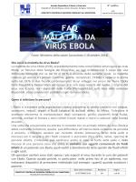 FAQ MALATTIA DA VIRUS EBOLA