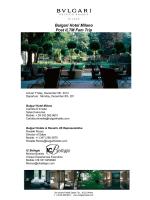 Bulgari Hotel Milano Post ILTM Fam Trip