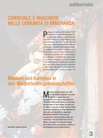 editoriale Masken und Karneval in den