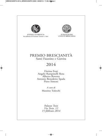 BRESCIANITA 2014 - Ateneo di Brescia