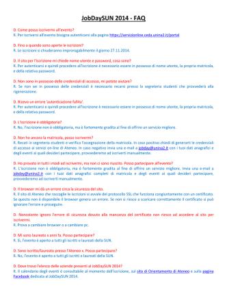 Controlla le FAQ - unina 2 orientamento