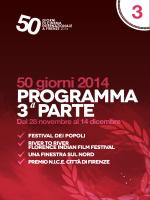 programma 3 parte - 50 Giorni di Cinema