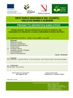 Computo metrico - Parco Nazionale del Cilento, Vallo di Diano e