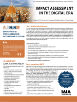 flyer - IAIA15 Impact Assessment in the Digital Era