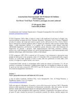 Bando Convegno AIPI Bari 2014 - AIPI