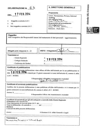 1 7 FEB 2014 - Azienda Sanitaria USL 8 Arezzo
